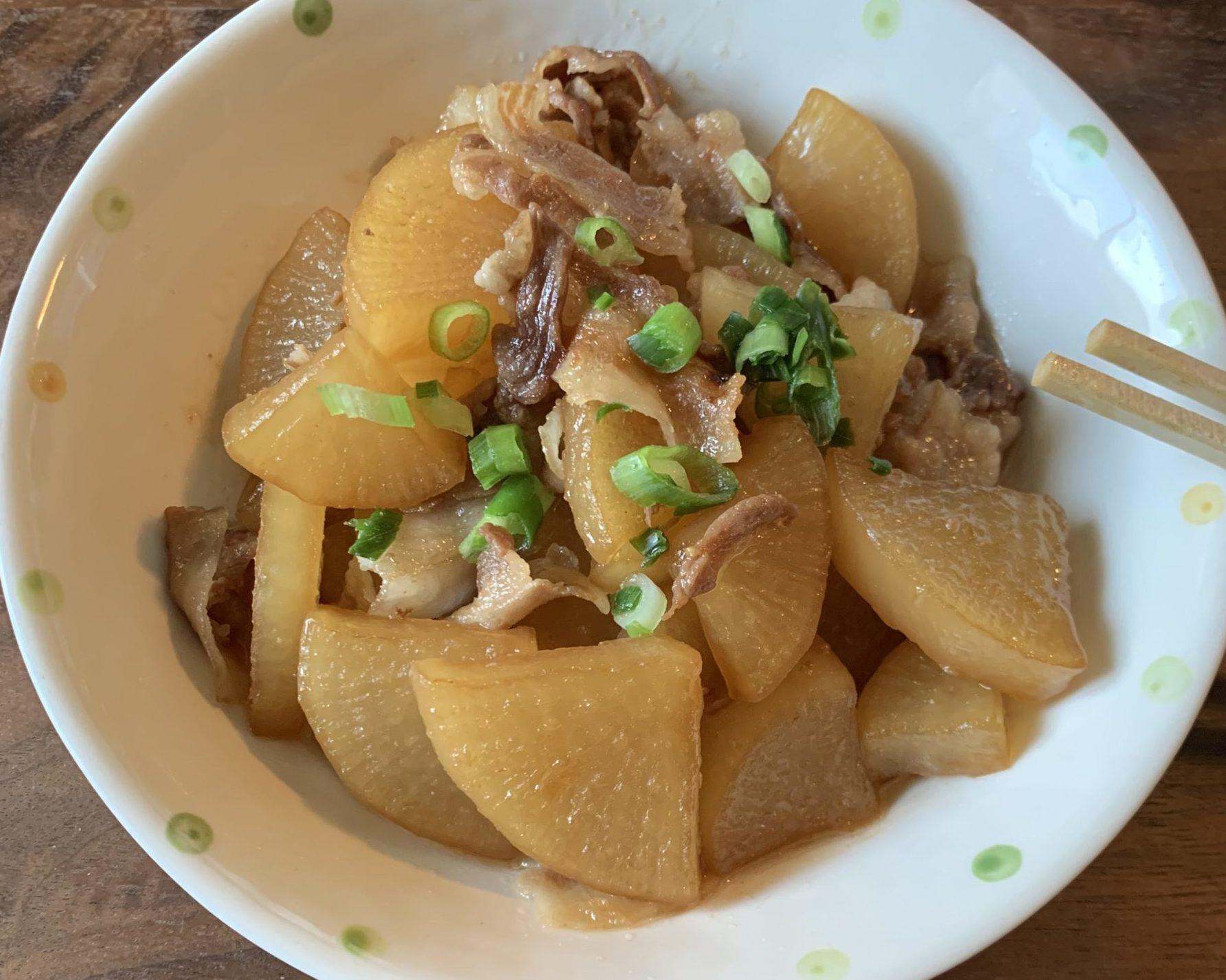 【料理】豚バラ肉と大根の煮物作ったンゴ!!!!!!