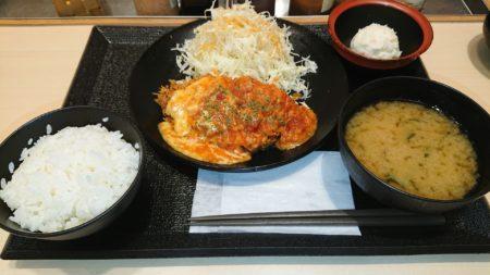 【定期】松のや・チーズトマトロースかつ定食(600円)
