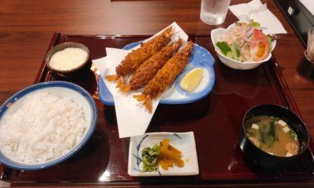 【画像】ワオの夕飯、至極のエビフライ定食の値段はいくらでしょう???