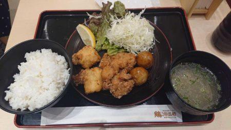 【画像】ワイ、今日の晩御飯の唐揚げ定食最高wwwwwwwwww