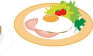 【画像】ハムエッグ納豆定食、こういうのでいいんだよ